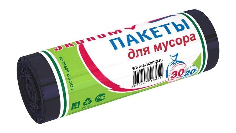 Изображение пакетов для мусора – типичное применение вторичного ПЭ